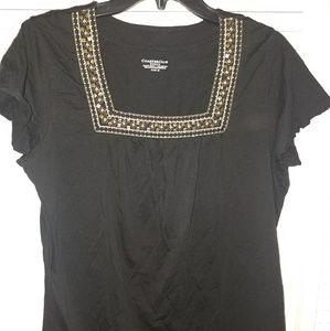 Charter Club embellished blouse